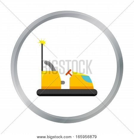 Bumper car icon in cartoon style isolated on white background. Play garden symbol vector illustration.