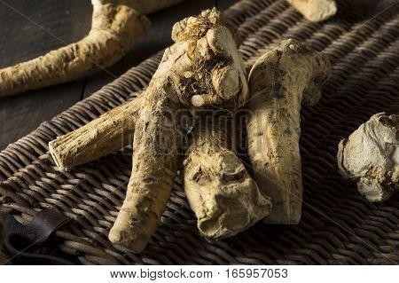 Raw Organic Brown Horseradish Root