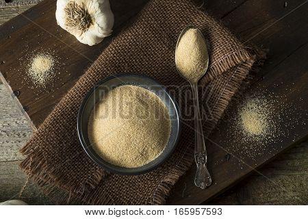 Dry Organic Ground Garlic Spice