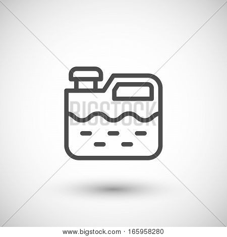 Canister line icon isolated on grey. Vector illustration