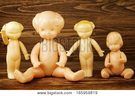 The vintage plastic dolls. Mass production in USSR 1970 - 1980