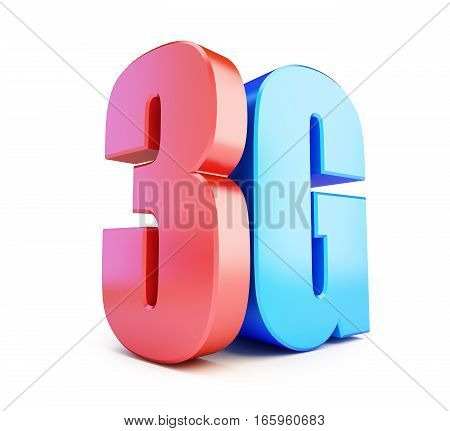 3G sign 3G cellular high speed data wireless connection. 3d Illustrations on white background