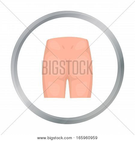 Buttocks icon in cartoon style isolated on white background. Part of body symbol vector illustration.