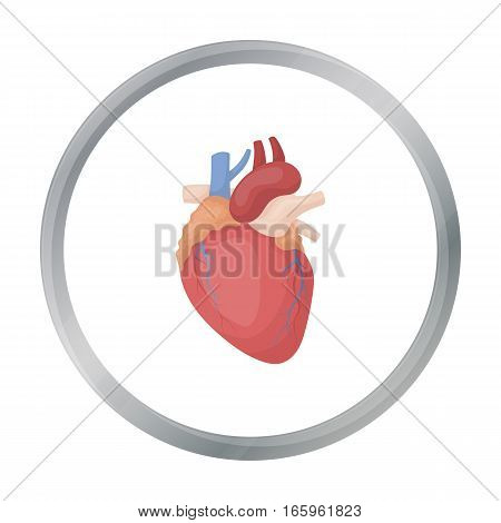 Heart icon in cartoon style isolated on white background. Organs symbol vector illustration.