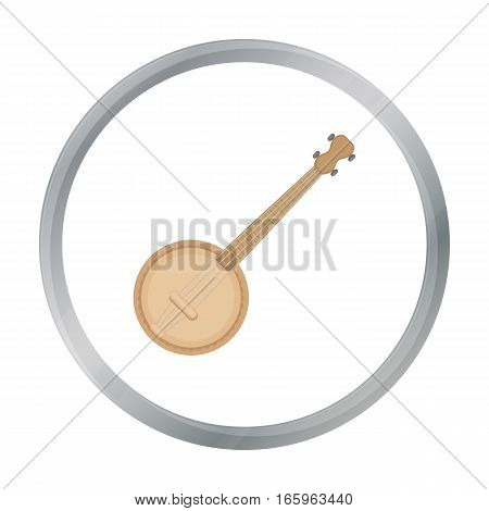 Banjo icon in cartoon style isolated on white background. Musical instruments symbol vector illustration