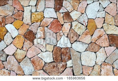 background of colored stones Mallorca Spain textured