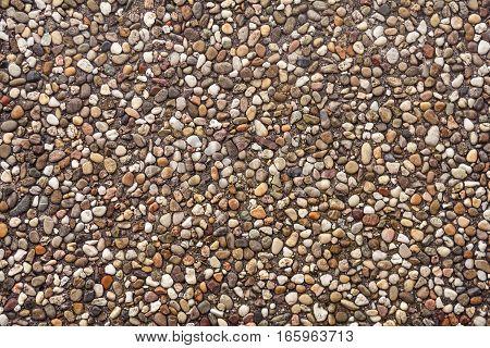 natural pebbles pattern texture decoration closeup detail