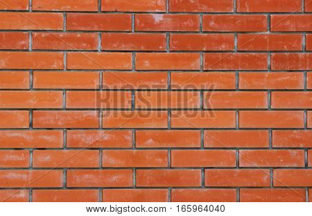 vintage wall made of red brick, background