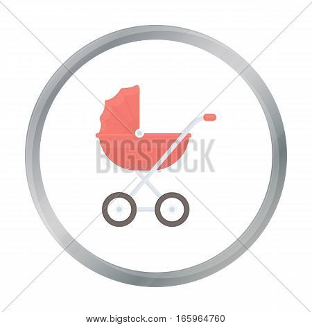 Baby transport icon in cartoon style isolated on white background. Pregnancy symbol vector illustration.