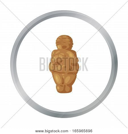 Venus of stone age icon in cartoon style isolated on white background. Stone age symbol vector illustration.