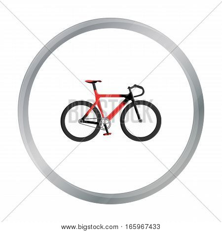 Bicycle icon cartoon. Single sport icon from the big fitness, healthy, workout cartoon. - stock vector