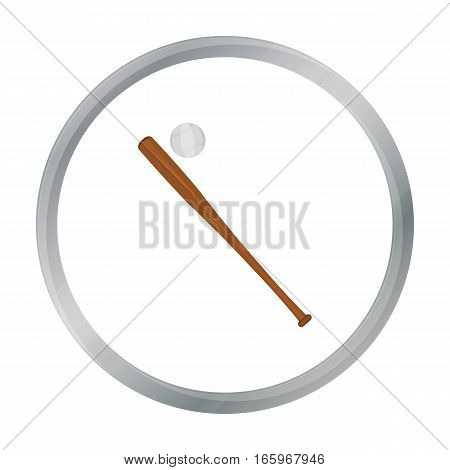 Baseball icon cartoon. Single sport icon from the big fitness, healthy, workout cartoon. - stock vector