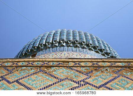 Dome of the Guri Amir mausoleum, tomb of Timurides. Samarkand, Uzbekistan