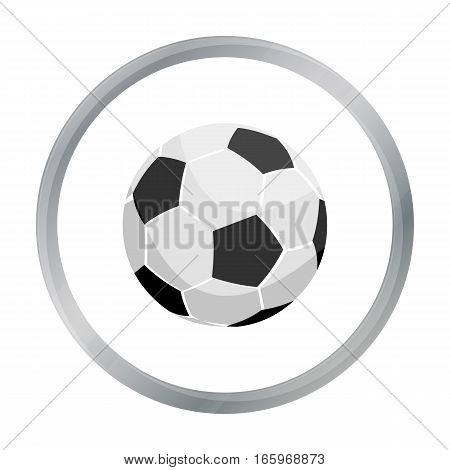 Football icon cartoon. Single sport icon from the big fitness, healthy, workout cartoon. - stock vector