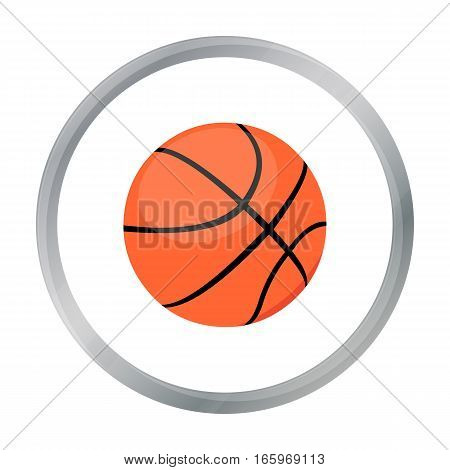 Basketball icon cartoon. Single sport icon from the big fitness, healthy, workout cartoon. - stock vector