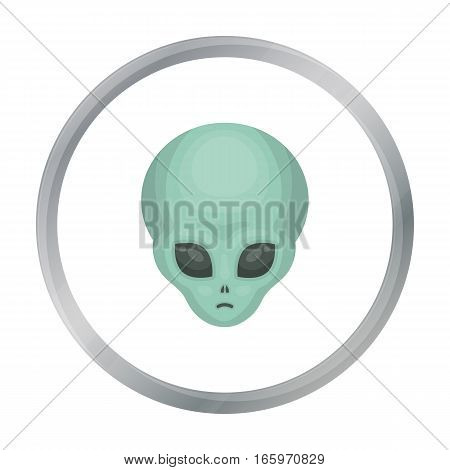 Alien icon in cartoon style isolated on white background. Space symbol vector illustration.