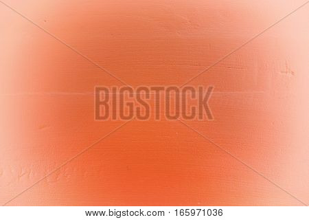 Orange Wood Background With White Vignette.