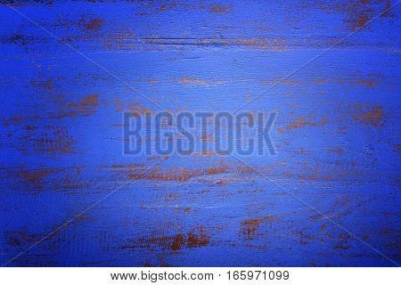 Dark Blue Rustic Wood Background, With Applied Dark Vignette Filters.