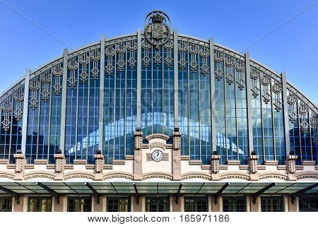Barcelona, Spain - November 26, 2016: Estacion de Francia is a major railway station in the city of Barcelona. The Estacio de Franca is the second busiest railway station of the city.