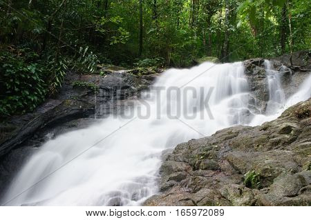 Floating waterfall in nationalpark in Phuket, Thailand