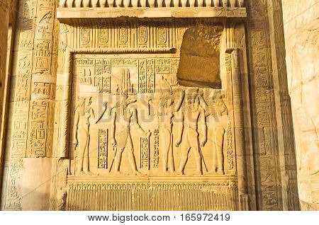 The Coronation Relief In Kom Ombo Temple