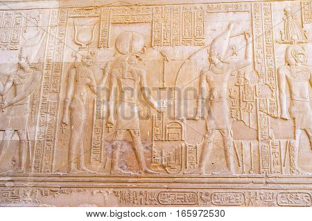The Relifs In Kom Ombo Temple