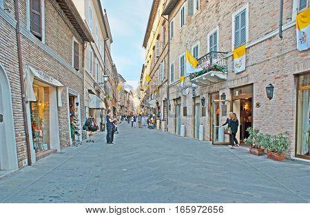 The Tourist Street In Loreto