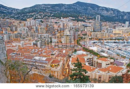 The Cityscape Of Monaco