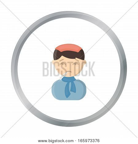 Fever icon cartoon. Single sick icon from the big ill, disease cartoon. - stock vector