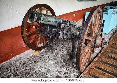 Old Cannon In The Quinta De Bolivar