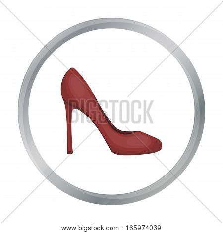 Stiletto icon in cartoon style isolated on white background. Shoes symbol vector illustration.