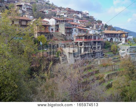 Pituresquue Mountain Village In Troodos