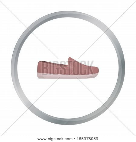 Moccasin icon in cartoon style isolated on white background. Shoes symbol vector illustration.
