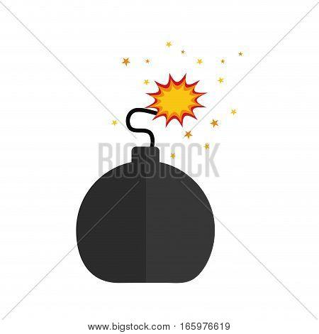 isolated ball bomb icon vector illustration graphic design