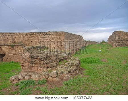 Preserved Strong Fortification Of The City Famagusta