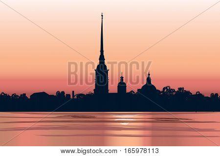 St-peterburg-petropavlovka-sunset