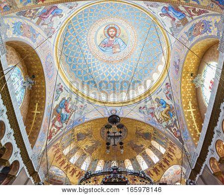 St.-Petersburg, KRONSTADT REGION, RUSSIA - 7 June , 2016: Naval cathedral of Saint Nicholas in Kronstadt, St-Petersburg Russia