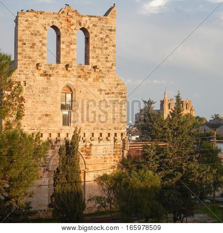 Ruin Of Mediavel Gothic Church In Famagusta