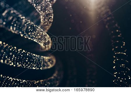 Glitter lights background. Defocused bokeh dark abstract illustration