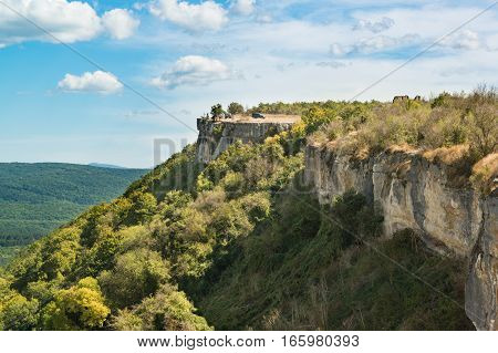 Views Cupations plateau of the CrimeViews Cupations plateau of the Crimean mountains and the valley ashlama-Derean mountains and the valley ashlama-Dere
