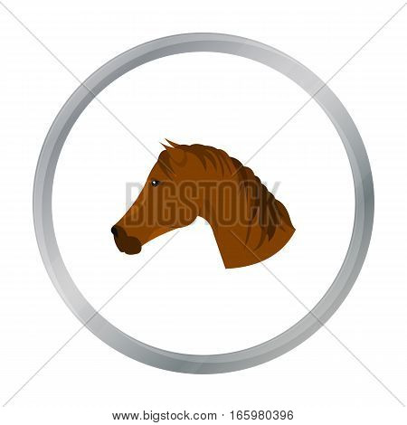 Muzzle horse icon cartoon. Singe western icon from the wild west cartoon. - stock vector