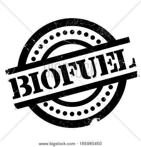 Biofuel rubber stamp. Grunge design with dust scratches. Effects can be easily removed for a clean, crisp look. Color is easily changed.