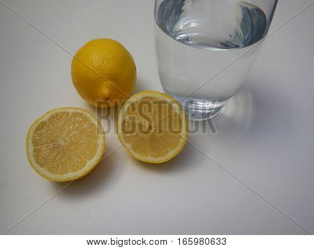 Glass Of Pure Water With Lemon