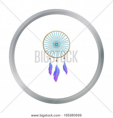 Dreamcatcher icon cartoon. Singe western icon from the wild west cartoon. - stock vector