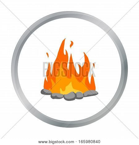 Bonfire icon cartoon. Singe western icon from the wild west cartoon. - stock vector
