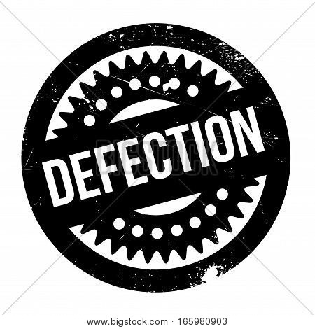 Defection rubber stamp. Grunge design with dust scratches. Effects can be easily removed for a clean, crisp look. Color is easily changed.
