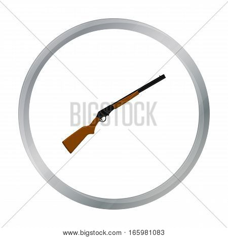 Shotgun icon cartoon. Singe western icon from the wild west cartoon. - stock vector