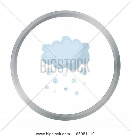 Snowfall icon in cartoon style isolated on white background. Weather symbol vector illustration.