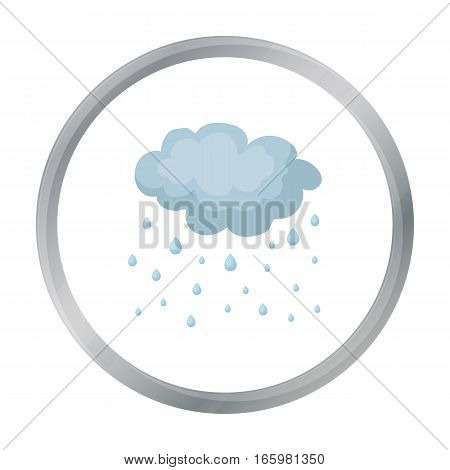Rain icon in cartoon style isolated on white background. Weather symbol vector illustration.
