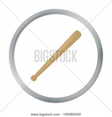 Baseball bat icon in cartoon style isolated on white background. USA country symbol vector illustration.